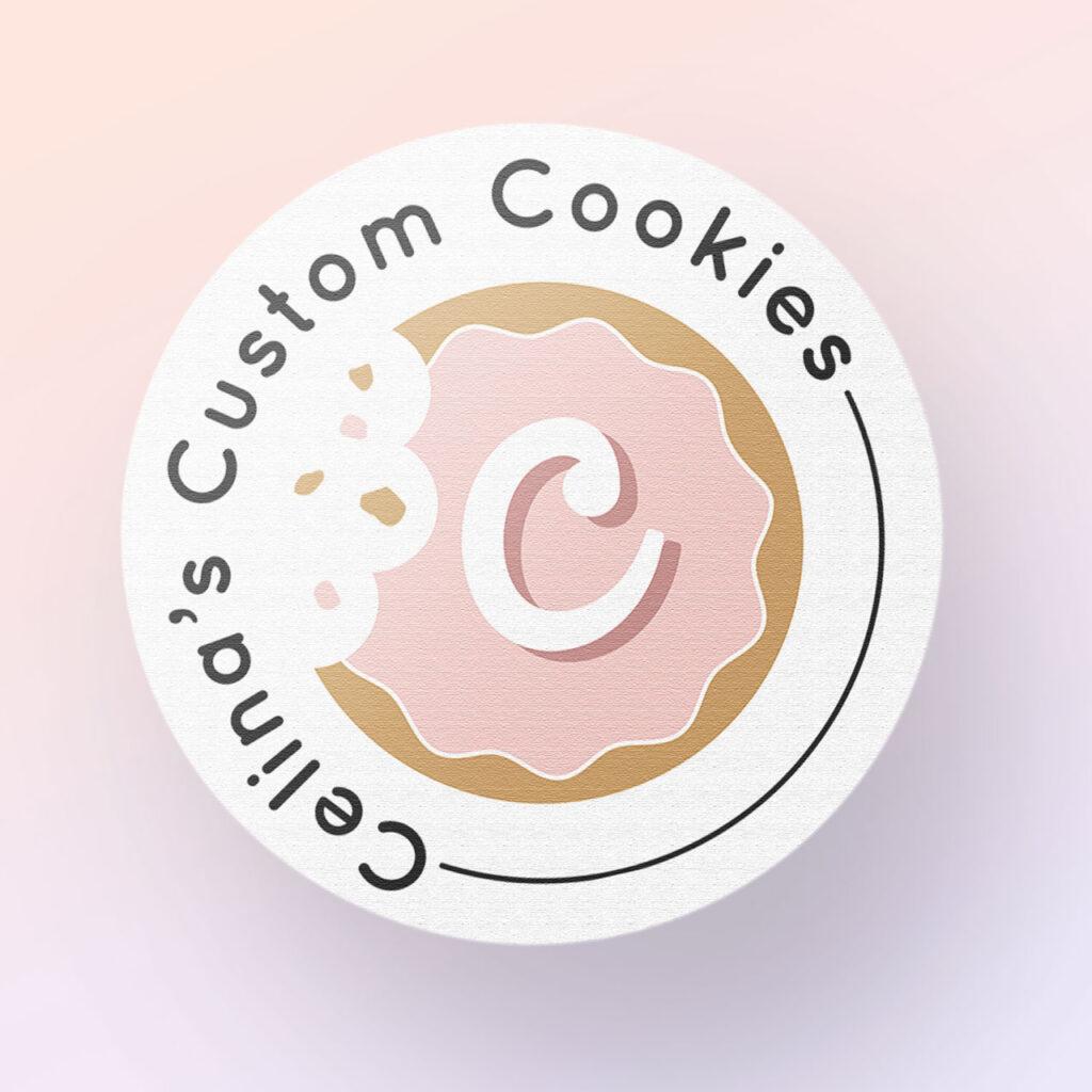 Celina's Custom Cookies Logo